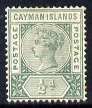 Cayman Islands 1900 QV 1/2d pale green mounted mint SG 1a