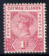 Cayman Islands 1900 QV 1d rose-carmine mounted mint SG 2