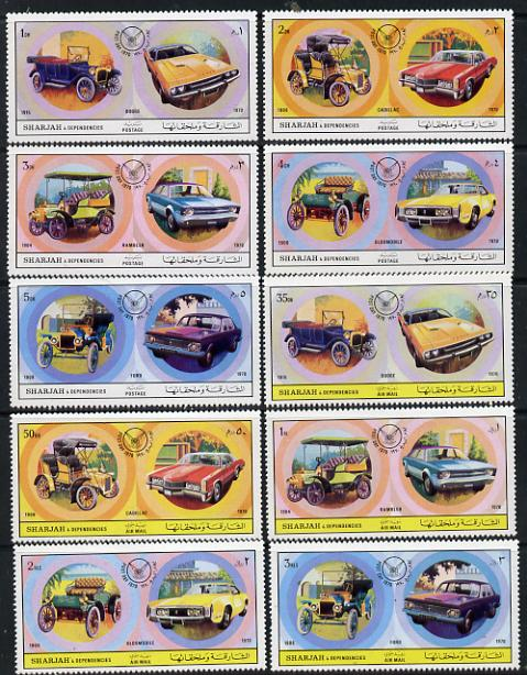 Sharjah 1971 Cars (Past & Present) set of 10 unmounted mint (Mi 781-90A)