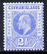 Cayman Islands 1905 KE7 MCA (Postage) 2.5d bright blue mounted mint SG 10