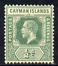 Cayman Islands 1912-20 KG5 MCA 1/2d green mounted mint SG 41