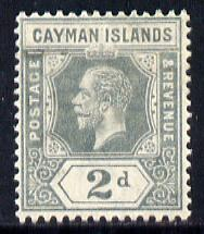 Cayman Islands 1912-20 KG5 MCA 2d grey mounted mint SG 43