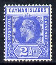 Cayman Islands 1912-20 KG5 MCA 2.5d bright blue mounted mint SG 44