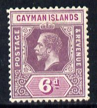 Cayman Islands 1912-20 KG5 MCA 6d dull & bright purple mounted mint SG 47