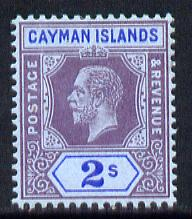 Cayman Islands 1912-20 KG5 MCA 2s purple & blue on blue mounted mint SG 49