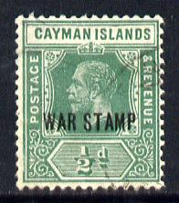 Cayman Islands 1919-20 War Tax 1/2d green mounted mint SG 57