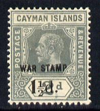 Cayman Islands 1919-20 War Tax 1.5d on 2d grey mounted mint SG 58
