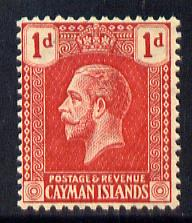 Cayman Islands 1921-26 KG5 Script CA 1d carmine-red mounted mint SG 71