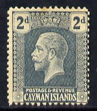 Cayman Islands 1921-26 KG5 Script CA 2d slate-grey mounted mint SG 73