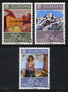 Switzerland 1975 Europa - Paintings set of 3 superb cto used, SG 898-900*