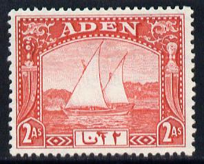 Aden 1937 Dhow 2a scarlet mounted mint, SG 4