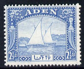 Aden 1937 Dhow 2.5a blue mounted mint, SG 5