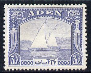 Aden 1937 Dhow 3.5a grey-blue mounted mint, SG 7