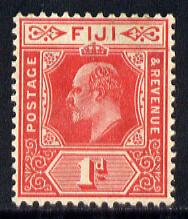 Fiji 1906-12 KE7 MCA 1d red mounted mint SG 119