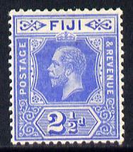 Fiji 1912-23 KG5 MCA 2.5d bright blue mounted mint SG 129