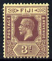 Fiji 1912-23 KG5 MCA 3d purple on lemon (die II) mounted mint SG 130d