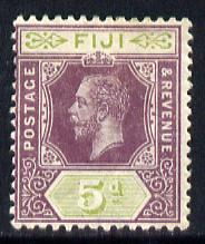 Fiji 1912-23 KG5 MCA 5d dull purple & olive-green mounted mint SG 132, stamps on , stamps on  kg5 , stamps on