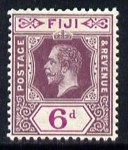 Fiji 1912-23 KG5 MCA 6d dull & bright purple mounted mint SG 133
