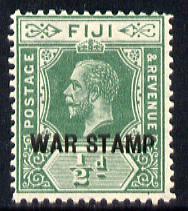 Fiji 1915-19 War Tax 1/2d green mounted mint SG 138