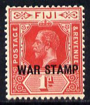 Fiji 1915-19 War Tax 1d red mounted mint SG 139a