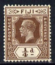 Fiji 1912-23 KG5 Script CA 1/4d deep brown mounted mint SG 228