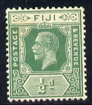 Fiji 1912-23 KG5 Script CA 1/2d green mounted mint SG 229, stamps on , stamps on  kg5 , stamps on