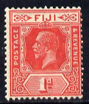 Fiji 1912-23 KG5 Script CA 1d carmine-red mounted mint SG 230