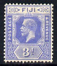 Fiji 1912-23 KG5 Script CA 3d bright blue mounted mint SG 234