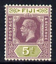 Fiji 1912-23 KG5 Script CA 5d dull purple & sage-green mounted mint SG 236