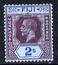 Fiji 1912-23 KG5 Script CA 2s purple & blue on blue mounted mint SG 239