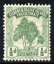 Gilbert & Ellice Islands 1911 Pandanus Pine 1/2d green mounted mint SG 8