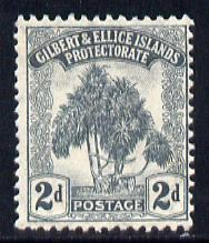 Gilbert & Ellice Islands 1911 Pandanus Pine 2d grey mounted mint SG 10