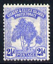Gilbert & Ellice Islands 1911 Pandanus Pine 2.5d blue mounted mint SG 11