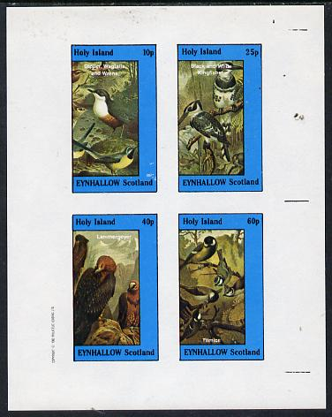 Eynhallow 1982 Birds #08 (Kingfisher, Bird of Prey etc) imperf  set of 4 values (10p to 60p) unmounted mint