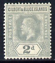 Gilbert & Ellice Islands 1912-24 KG5 MCA 2d greyish-slate mounted mint SG 14