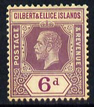 Gilbert & Ellice Islands 1912-24 KG5 MCA 6d dull & bright purple mounted mint SG 19