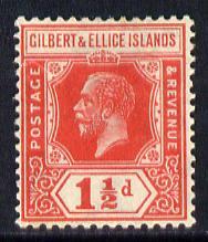 Gilbert & Ellice Islands 1922-27 KG5 Script CA 1.5d scarlet mounted mint SG 29