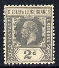 Gilbert & Ellice Islands 1922-27 KG5 Script CA 2d slate-grey mounted mint SG 30
