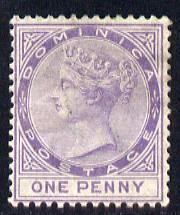 Dominica 1883-86 QV Crown CA 1d lilac unused without gum SG 14