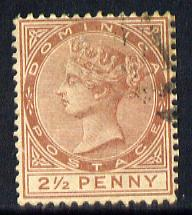 Dominica 1883-86 QV Crown CA 2.5d red-brown fine used SG 15