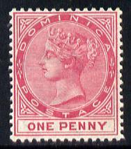 Dominica 1886-90 QV Crown CA 1d carmine mounted mint SG 22a