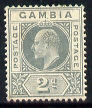 Gambia 1909 KE7 MCA 2d greyish-slate mounted mint SG 74