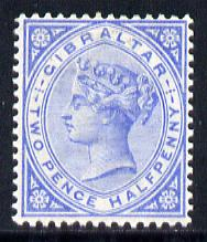 Gibraltar 1886-98 Sterling Currency 2.5d ultramarine mounted mint SG 11/42, stamps on , stamps on  qv , stamps on