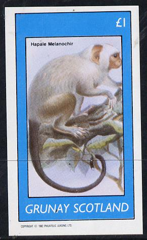 Grunay 1982 Monkeys imperf souvenir sheet (�1 value) unmounted mint