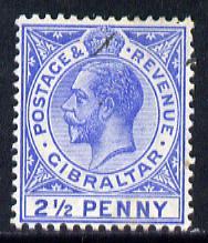 Gibraltar 1912-24 KG5 MCA 2.5d blue mounted mint SG 79/b