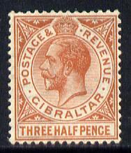 Gibraltar 1921-27 KG5 Script CA 1.5d chestnut mounted mint SG 91