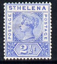 St Helena 1890-97 QV Key Plate 2.5d ultramarine mounted mint SG50