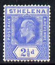 St Helena 1908-11 KE7 Key Plate 2.5d blue mounted mint SG64