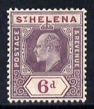 St Helena 1908-11 KE7 Key Plate 6d dull & deep purple mounted mint SG67a