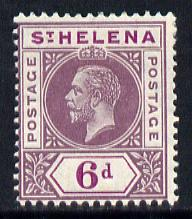 St Helena 1913 KG5 Key Plate (Postage Postage) 6d dull & deep purple mounted mint SG86